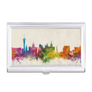 Nevada wallets zazzle las vegas nevada skyline business card holder reheart Images