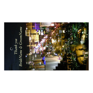 Las Vegas Nevada Thank you Gift Tag Double-Sided Standard Business Cards (Pack Of 100)