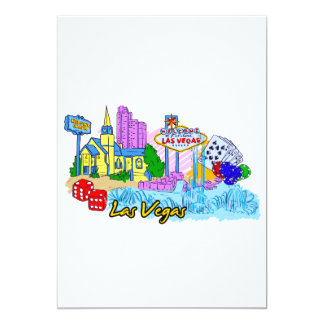 Las Vegas - Nevada - United States of America.png 13 Cm X 18 Cm Invitation Card