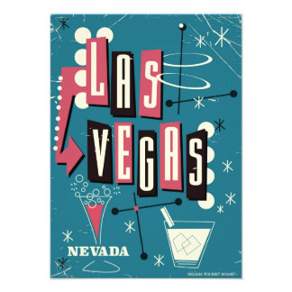 Las Vegas nevada vintage travel poster