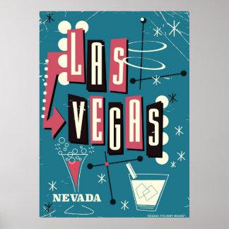 Las Vegas nevada vintage travel poster