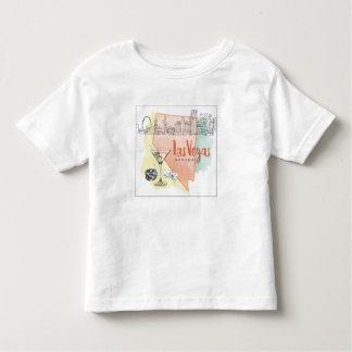 Las Vegas, Nevada | Watercolor Sketch Image Toddler T-Shirt