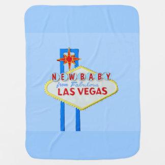 Las Vegas New Baby Blue Baby Blanket