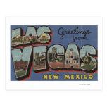 Las Vegas, New Mexico - Large Letter Scenes Postcard