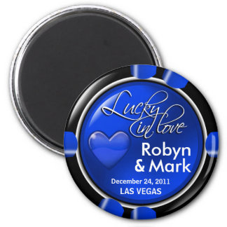 Las Vegas Newlyweds Casino Chip Magnet Favor