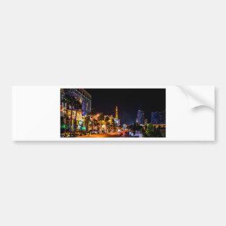 Las Vegas Night Lights Strip Eiffel Tower Casino Bumper Sticker