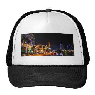 Las Vegas Night Lights Strip Eiffel Tower Casino Cap