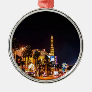 Las Vegas Night Lights Strip Eiffel Tower Casino Christmas Ornament