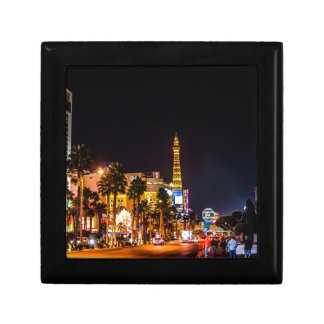 Las Vegas Night Lights Strip Eiffel Tower Casino Small Square Gift Box