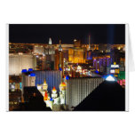 Las Vegas night time Greeting Card