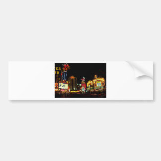 Las Vegas Night Time Neon Lights Casinos Sign Bumper Sticker