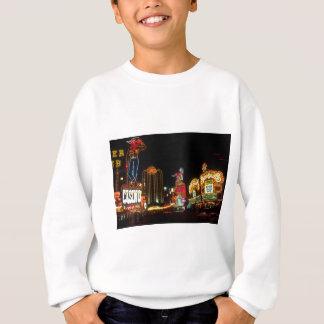 Las Vegas Night Time Neon Lights Casinos Sign Sweatshirt