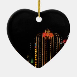 Las Vegas old Fremont Street Ceramic Heart Decoration