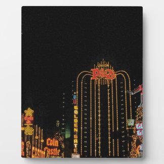 Las Vegas old Fremont Street Plaque