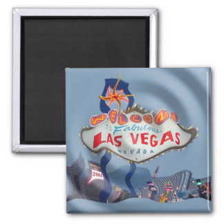 Las Vegas One to Many Magnet! Square Magnet