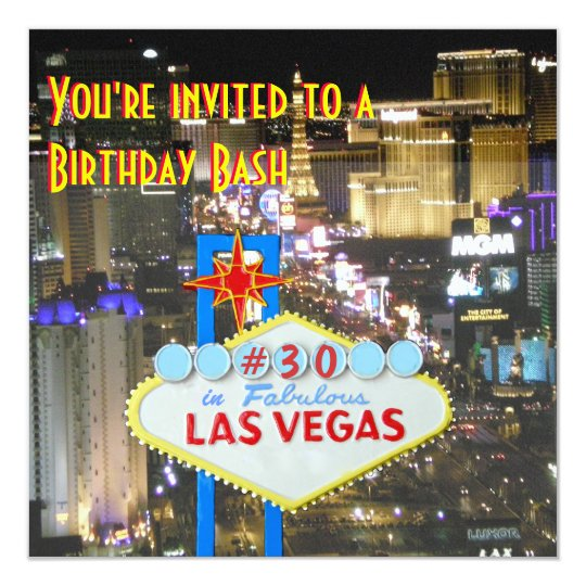 Las Vegas Party 30th Birthday Card