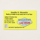 Las Vegas Party Planner Events Business Card