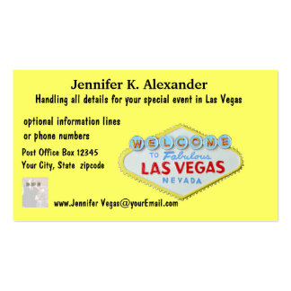 Las Vegas Party Planner Events Pack Of Standard Business Cards