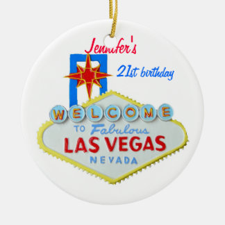 Las Vegas Personalized Occasion Pendant Christmas Ornament