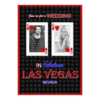 Las Vegas Photo Wedding Invitation - King & Queen