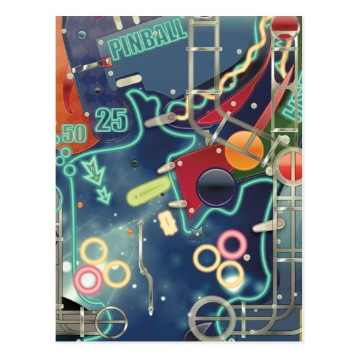 Las Vegas Pinball Machine Postcards