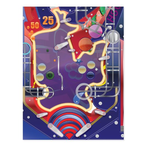 Las Vegas Pinball Machine Postcard