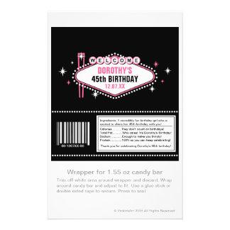Las Vegas Pink Candy Wrapper 14 Cm X 21.5 Cm Flyer