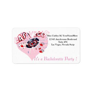 Las Vegas Pink Party Invitation Address Label