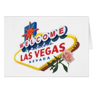 Las Vegas Pink Rose Card