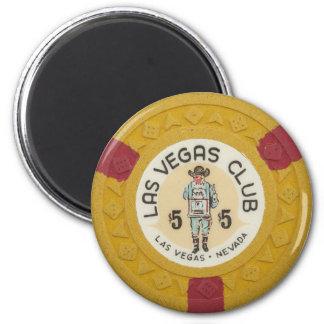 Las Vegas Poker Chip Casino Gambling Obsolete Magnet