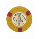 Las Vegas Poker Chip Casino Gambling Obsolete Post Card