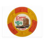 Las Vegas Poker Chip Casino Gambling Obsolete Postcards