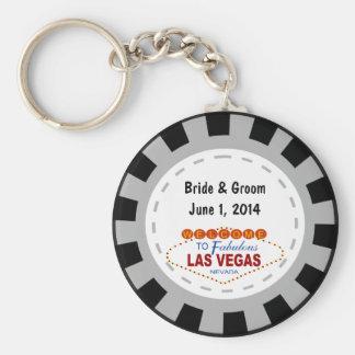 Las Vegas Poker Chip Keychain