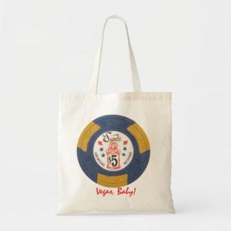 Las Vegas Poker Chip Personalized Tote Gift Bag
