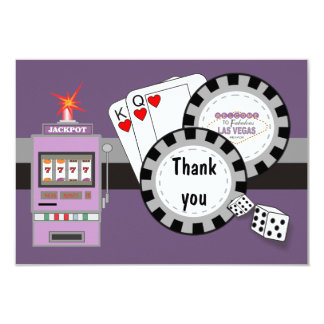 Las Vegas Poker Chips Thank You Card