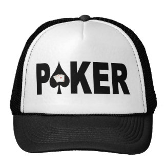 Las Vegas POKER Player Lucky Cap! Trucker Hats