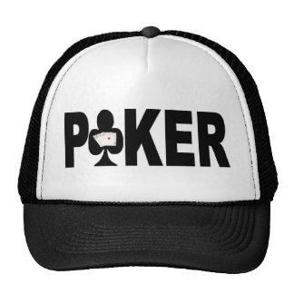 Las Vegas POKER Player Lucky Cap Hats