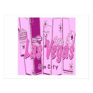 Las Vegas Pop Art Retro Postcard