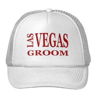 LAS VEGAS RED TEXT GROOM Hat
