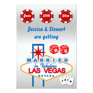 Las Vegas Renewal of  Wedding Vows Card