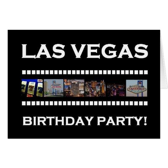 Las Vegas Retro Film Birthday Party! Card