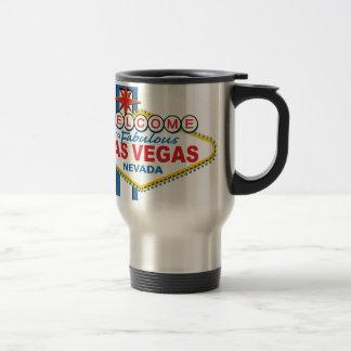 Las Vegas Retro Sign 15 Oz Stainless Steel Travel Mug