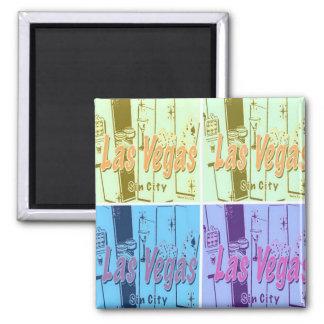 Las Vegas Retro Square Magnet