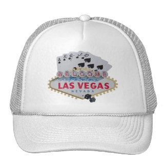 Las Vegas Royal Flush Cap with set of dice Hat