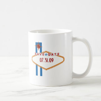 Las Vegas Save the Date Basic White Mug