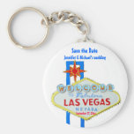 Las Vegas Save the Date Customised Occasion Keychains