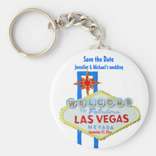 Las Vegas Save the Date Customized Occasion Keychains