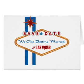 Las Vegas Save the Date Greeting Card