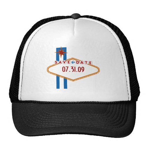 Las Vegas Save the Date Hat