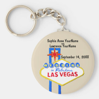 Las Vegas Save the Date Invitation Key Ring